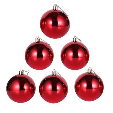 6 Pezzi Infrangibile Lusso Palline Di Natale