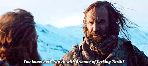 Il mastino parla di Brienne con Tormund