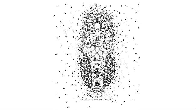 Un'opera della mostra Eternal Little Goddess