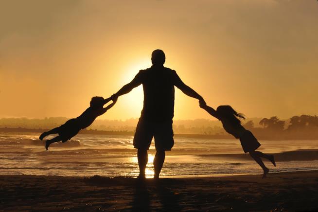 Papà coi bimbi