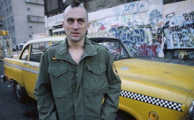 Una scena di Taxi Driver