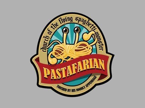 Il simbolo del mostro volante di spaghetti, divinità dei pastafariani