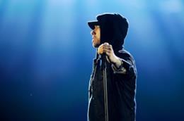 Eminem durante una recente performance live