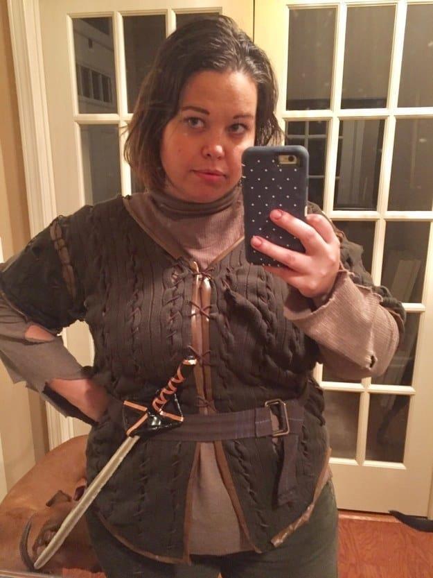 Il costume di Arya Stark per Halloween