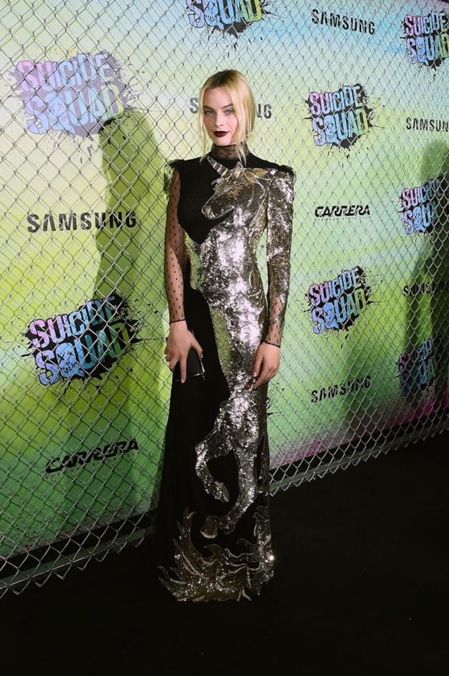 Margot Robbie alla première di Suicide Squad