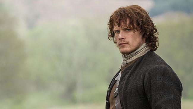 Jamie Fraser in una scena di Outlander