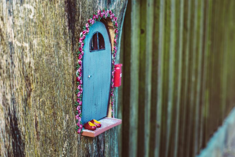 Una casa nell'albero in miniatura