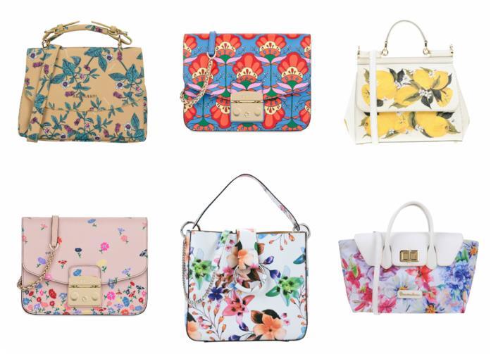 Borse con stampa floreale moda primavera 2018