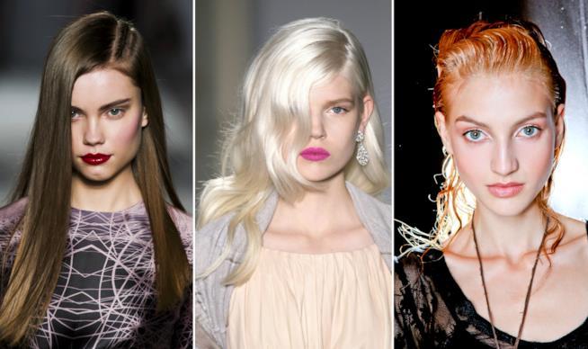 Collage colori di capelli