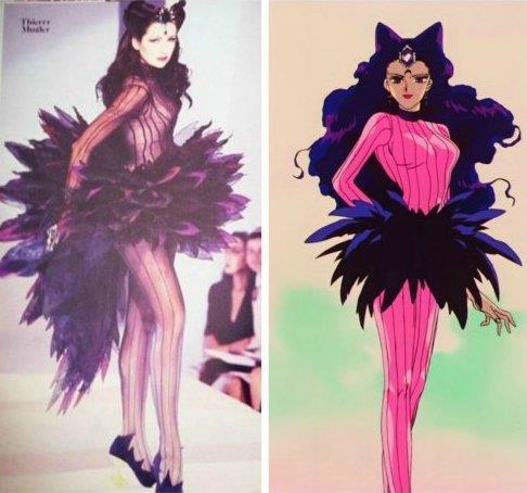 La villain Koan di Sailor Moon in Thierry Mugler