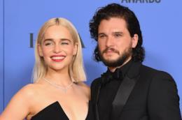 Emilia Clarke e Kit Harington ai Golgen Globes 2018