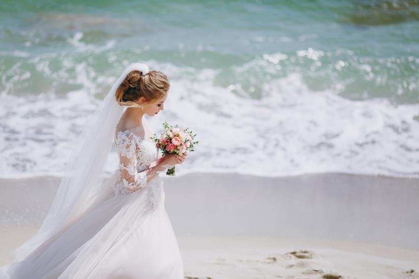 Hairstyle da matrimonio in spiaggia