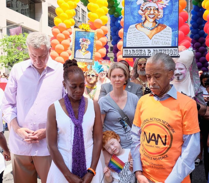 Cynthia Nixon a una manifestazione LGBT