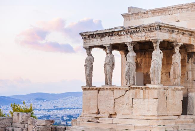 Particolare della Loggia delle Cariatidi sull'Acropoli