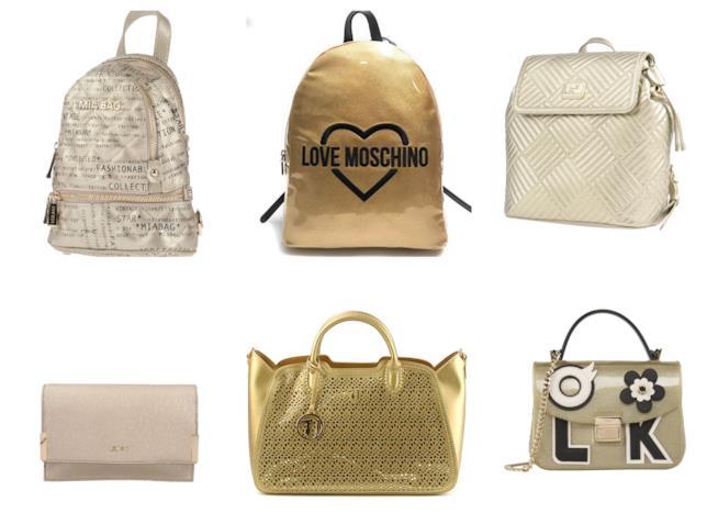 Le borse colore oro di tendenza per l'estate 2018