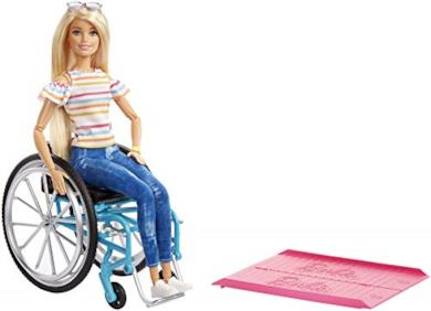 Barbie sedia a rotelle