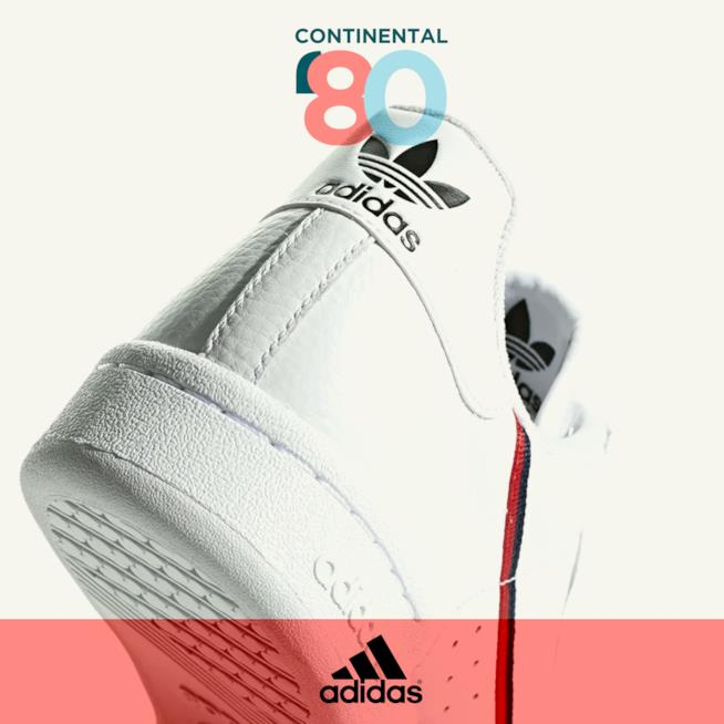 adidas continental 80 dettaglio