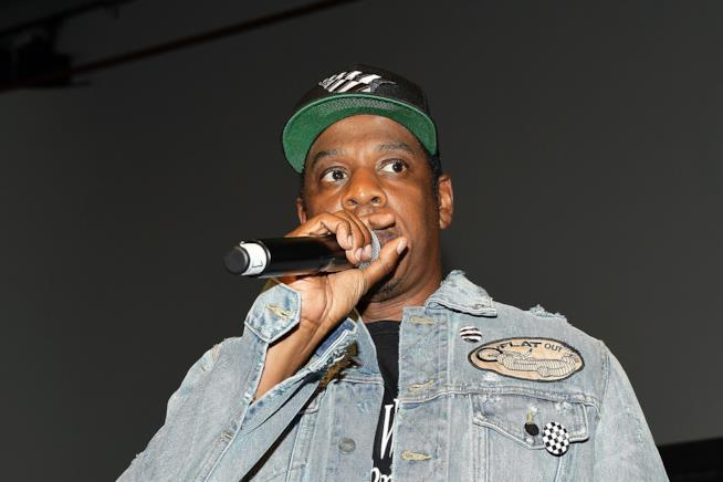 Jay-Z mentre si esibisce