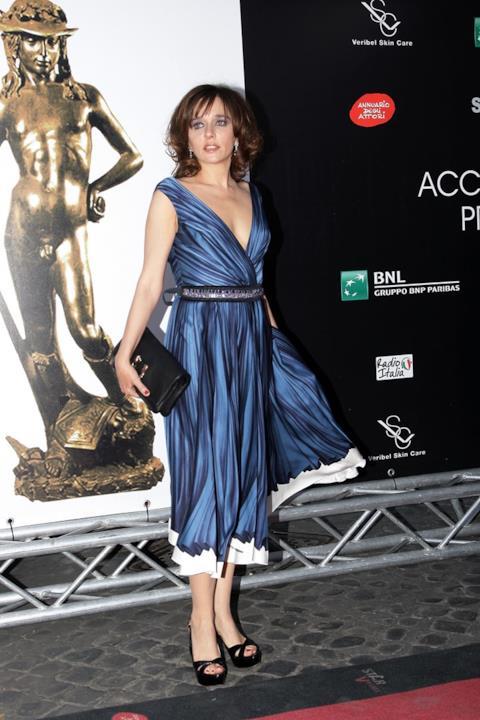 Valeria Golino, alla serata dei David di Donatello 2009