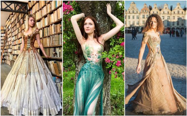Gli abiti della designer Sylvie Facon
