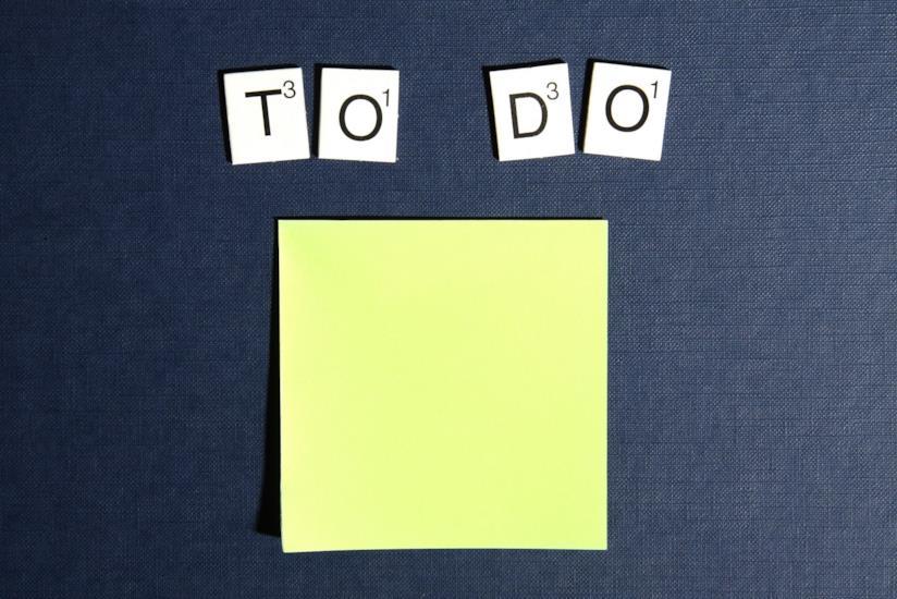 """Dei tasselli  che formano l'espressione """"To Do"""""""