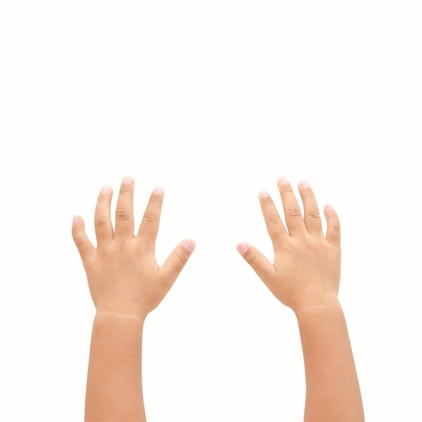 Mani di bambino piccolo