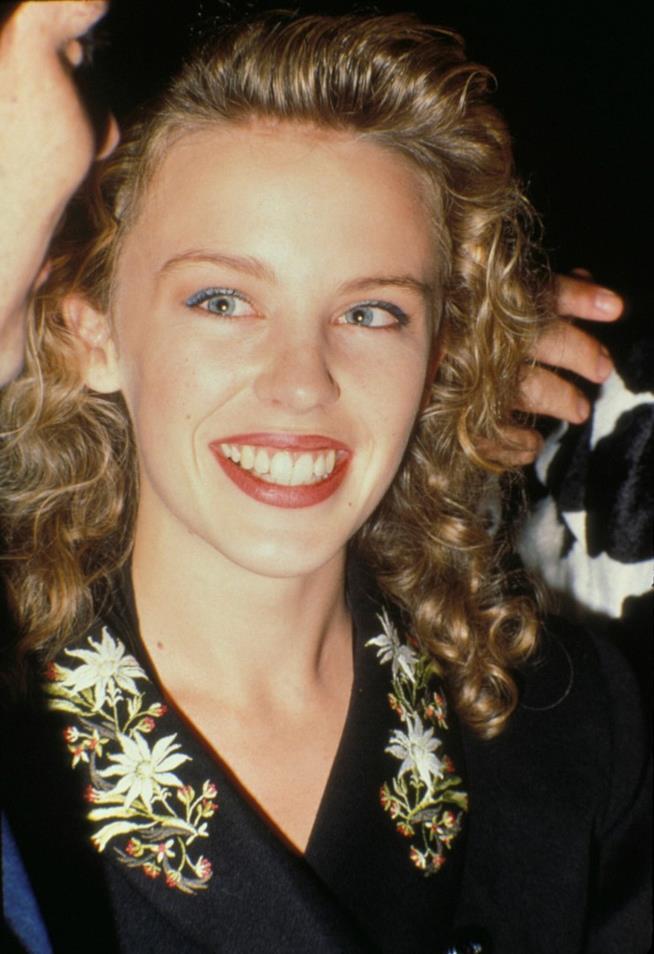 Una giovanissima Kylie Minogue