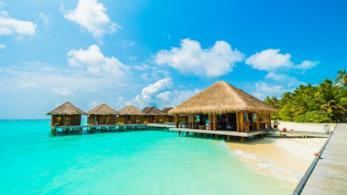 Residenza di lusso sottacqua alle Maldive