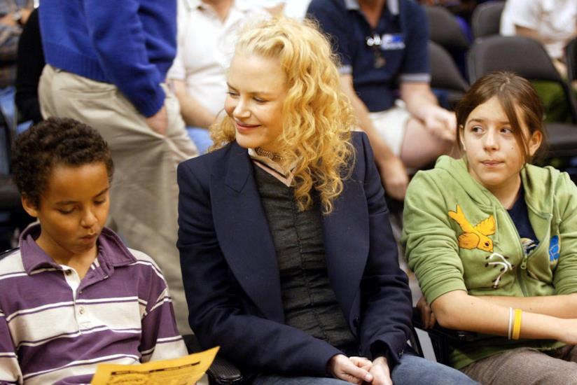 Nicole Kidman con i figli Connor e Isabella