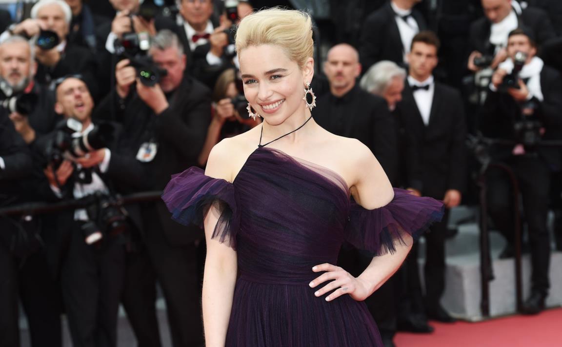 Emilia Clarke sul red carpet di Cannes