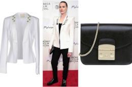 Il blazer bianco di Evan Rachel Wood