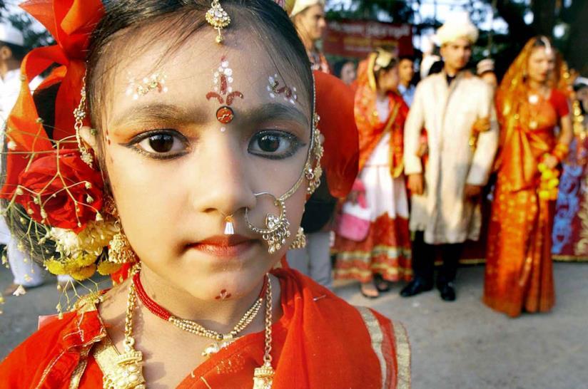 Una scena da un matrimonio in India