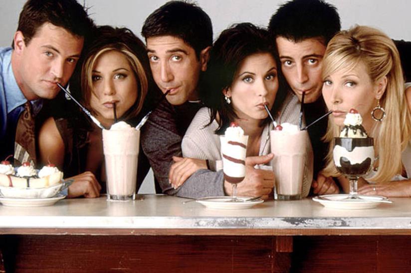 Il cast di Friends in una foto promozionale