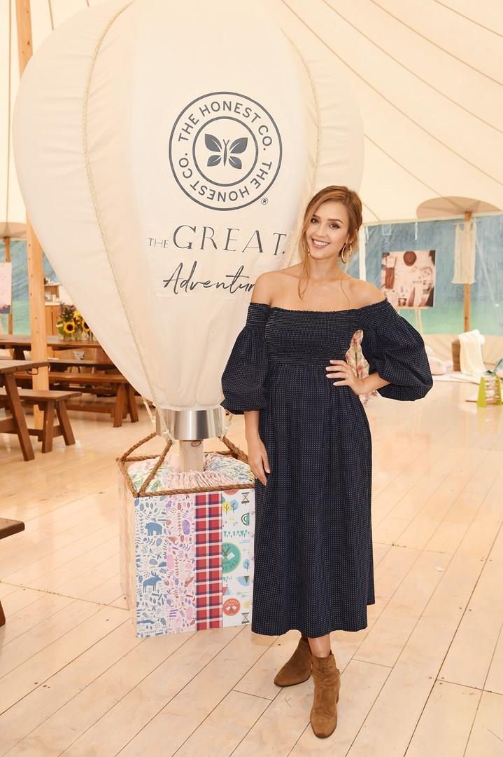 Jessica Alba durante un evento organizzato da The Honest Company