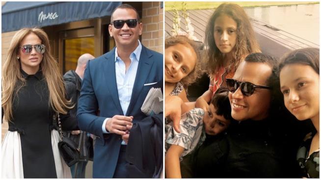 Alcuni scatti di Jennifer Lopez e Alex Rodriguez con i loro figli