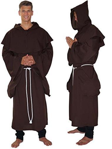 Vestito da monaco/frate - 3 pezzi