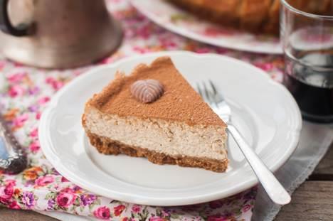 Cheesecake al tiramisù con cacao