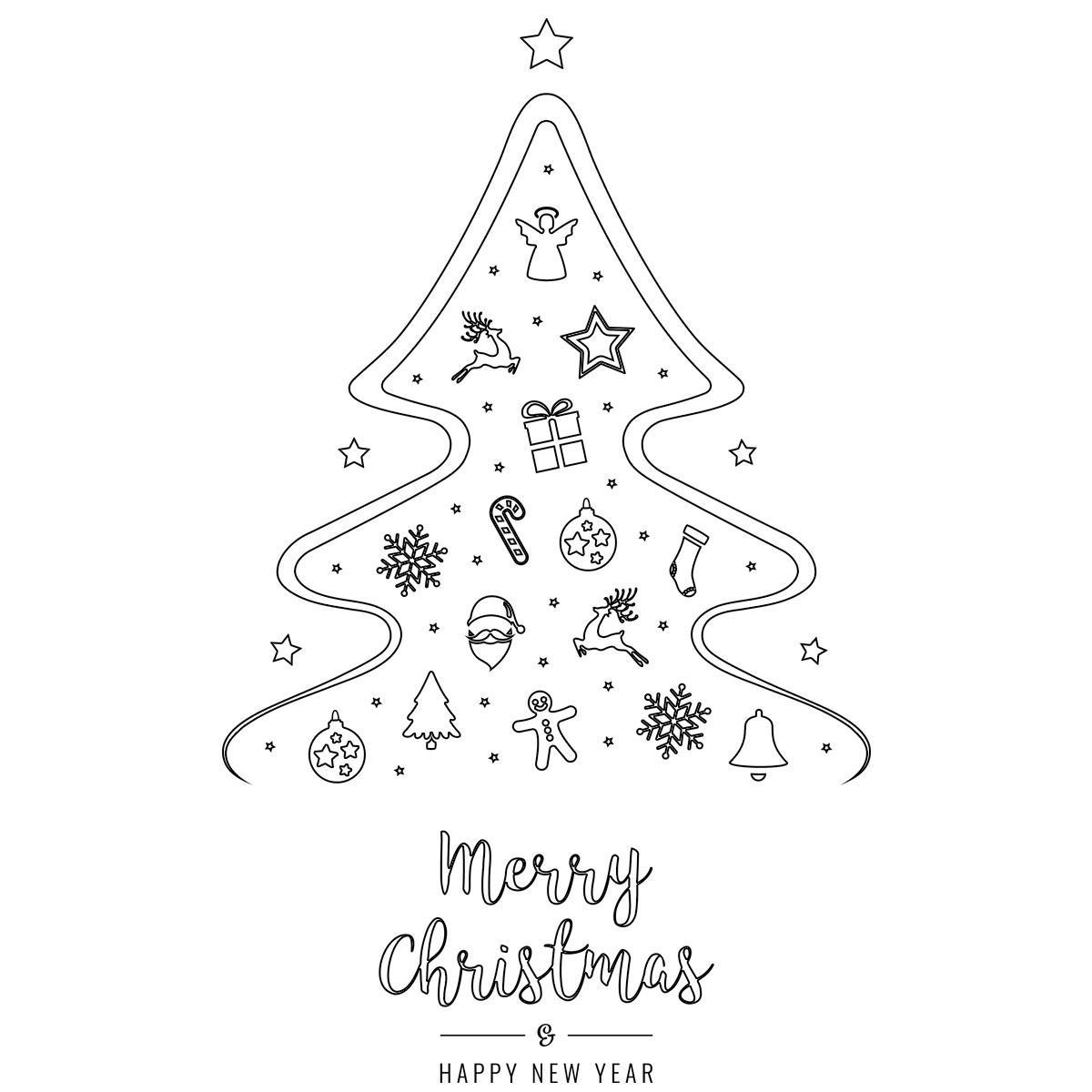 Albero di natale disegni da scaricare stampare e colorare for Immagini natalizie da colorare