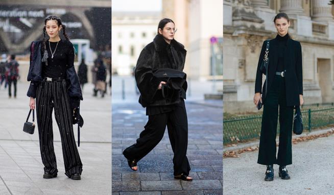 Moda donna  i pantaloni neri a palazzo da avere subito nel tuo armadio 804aa852a44