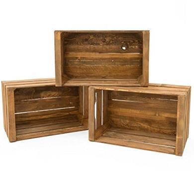 Set 3 Cassette di legno