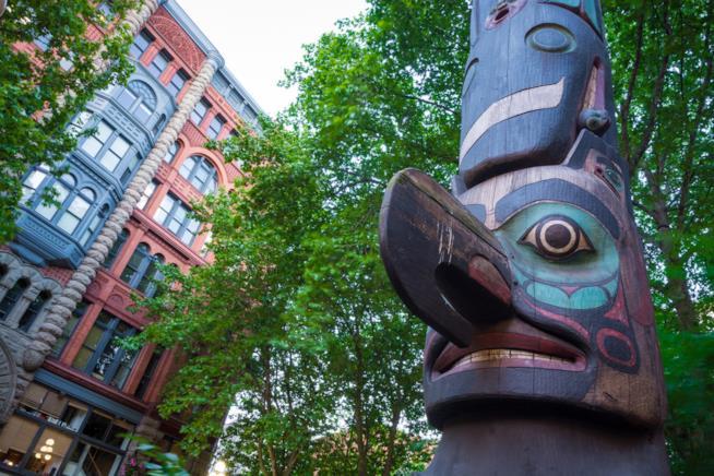 Il totem degli indiani Tlingit