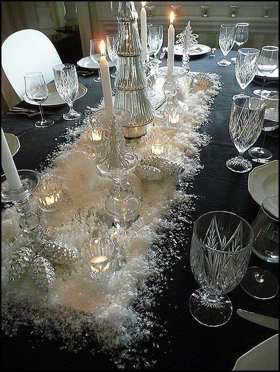 Centrotavola bianco natalizio