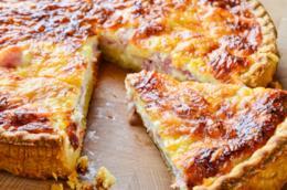 Quiche Lorraine con formaggio
