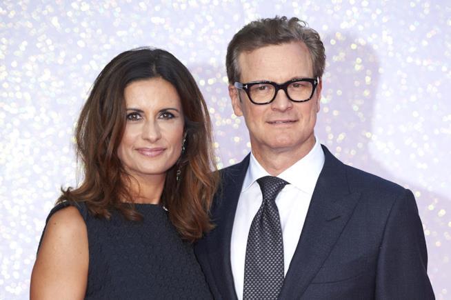 Livia Giuggioli con Colin Firth