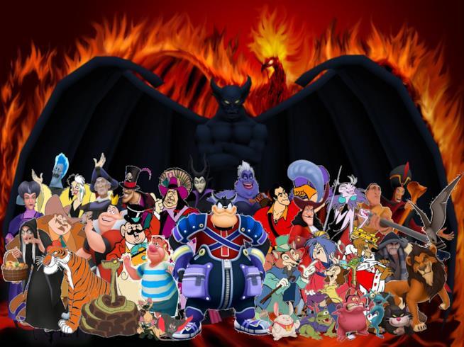 Personaggi Disney cattivi in gruppo
