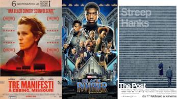 poster di Tre manifesti a Ebbing, Missouri.Black Panther e The Post