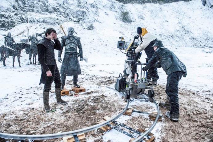 Una scena dal set di GOT