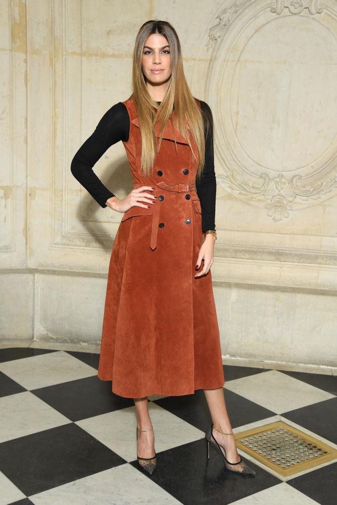 Bianca Brandolini d'Adda nel front row di Dior