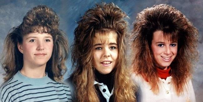 I capelli cotonati o ultra cotonati tipici degli anni '80