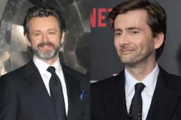 Gli attori Michael Sheen e David Tennant